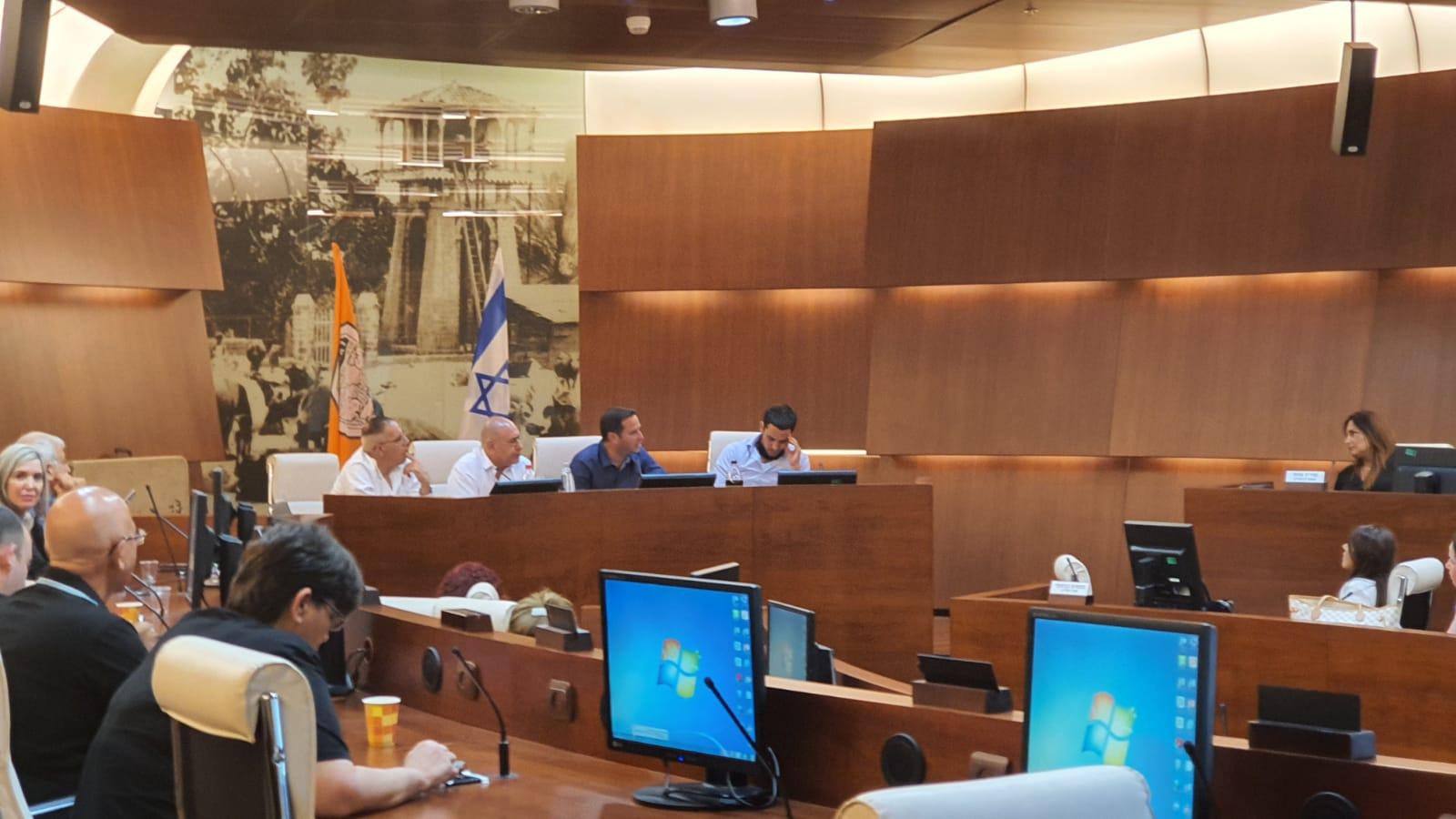 הפגישה בעירייה. צילום: דוברות העירייה