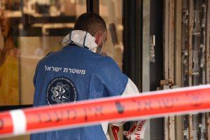 זירה רצח מחסום צילום דוברות משטרת ישראל