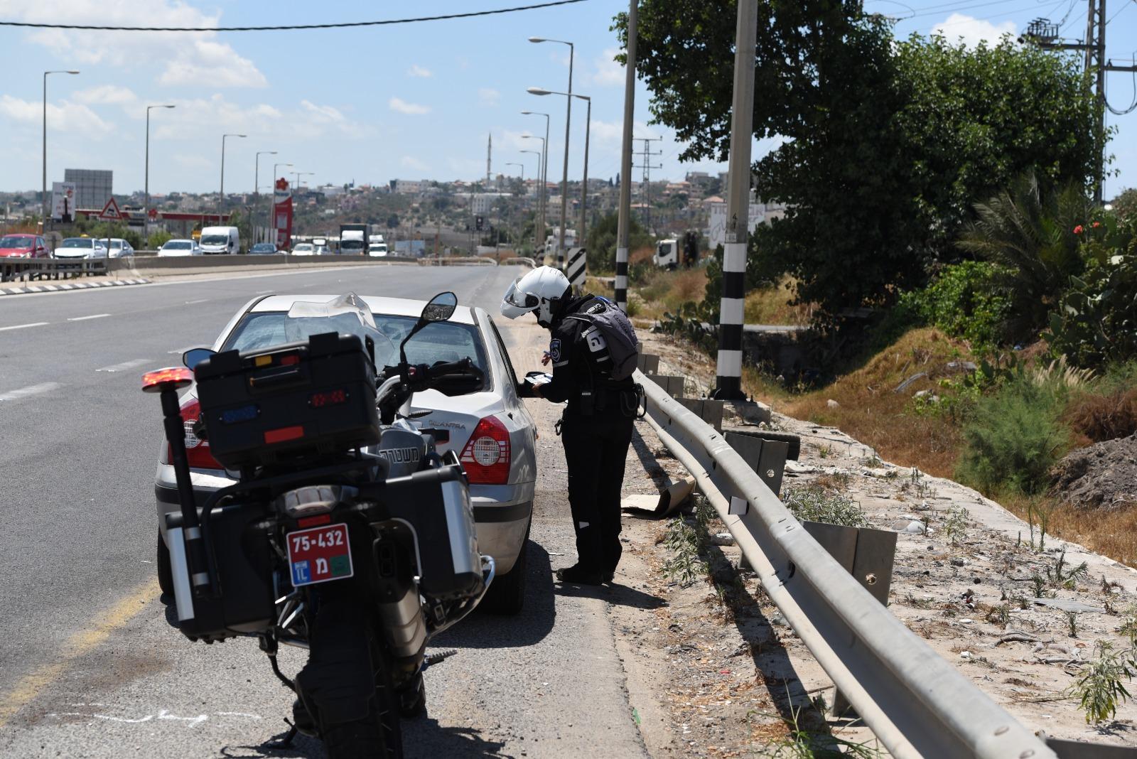 משטרה דוח תנועה צילום דוברות משטרת ישראל