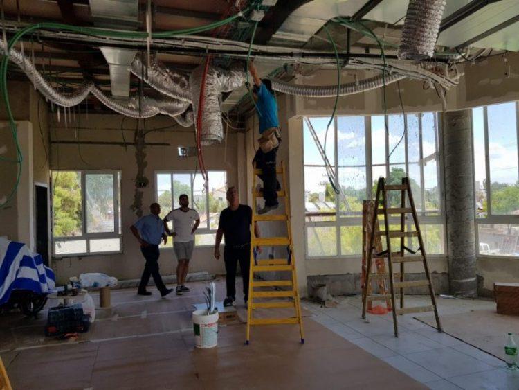 עבודות להקמת מרכז קהילתי ברמת פנקס