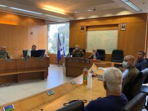 פיקוד העורף אורי גורדין מוטי ששון ראש העיר צילום עיריית חולון