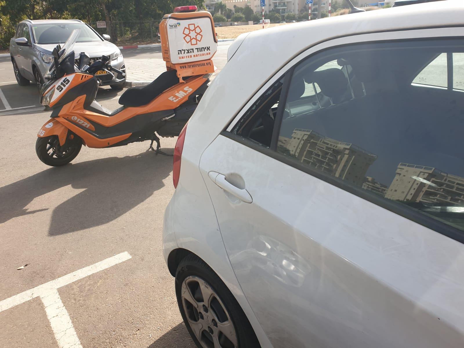 קטנוע רכב חניה צילום דוברות איחוד הצלה
