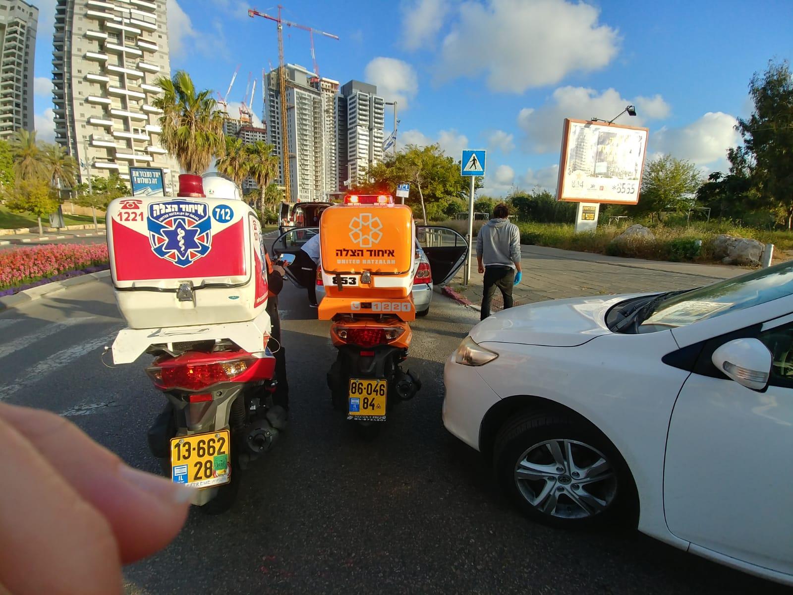 תאונה אופנוע טיילת תאונת דרכים צילום דוברות איחוד הצלה