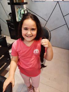 אריאל מנדל תרומת שיער- צילום פרטי1