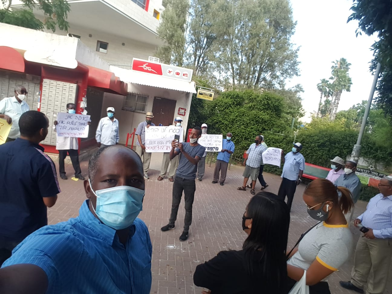 מחאת התושבים. צילום: יוני מנגיסטו