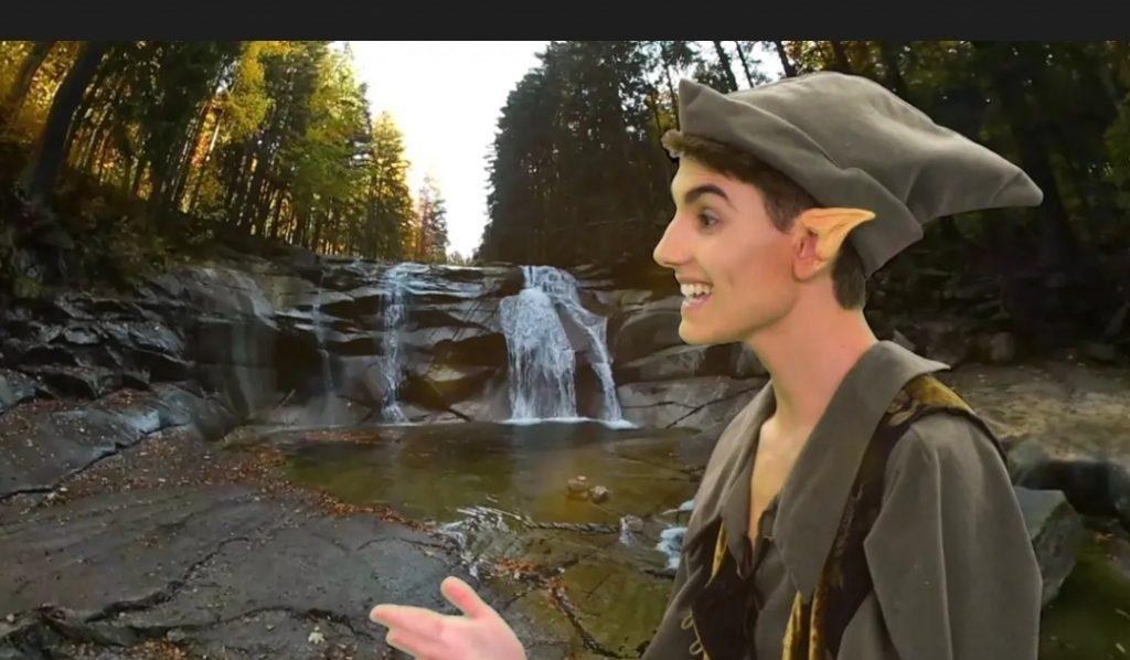 פיטר פן בא לבקר בגן הבוטני. צילום אלדד אלוני