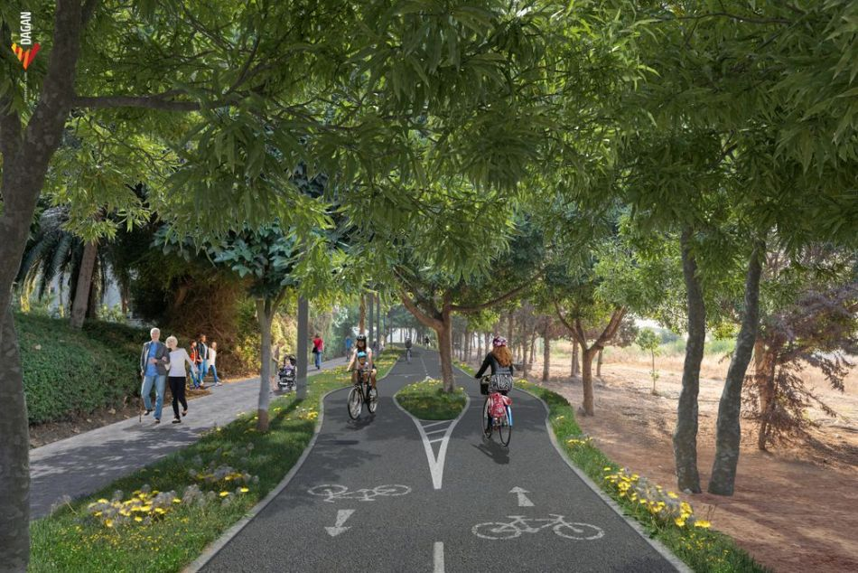 שביל אופניים מסלול הדמייה אופנידן נתיבי איילון