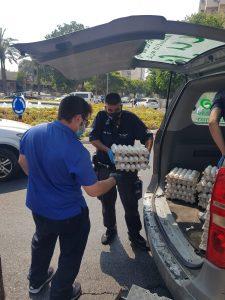 השמדת אלפי ביצים שנמצאו מסוכנות למאכל אדם בקריית שרת בחולון. צילום-עיריית חולון (5)
