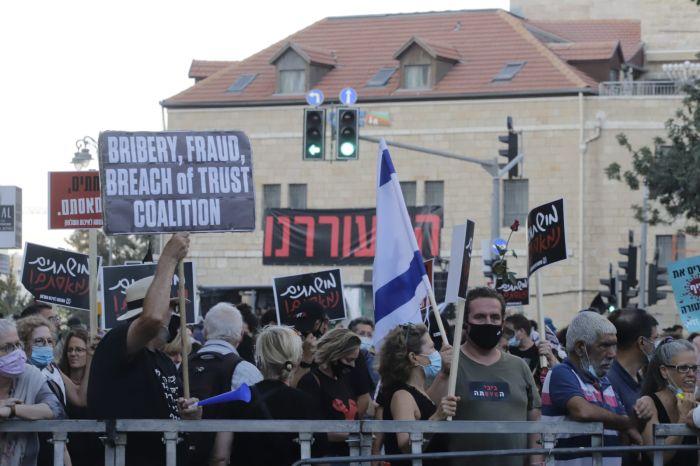 הפגנה בבלפור. צילום: איתן אלחדז ברק