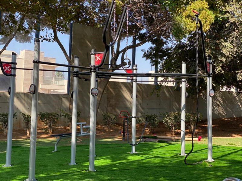 מתקן הכושר בגן קרן טנדלר