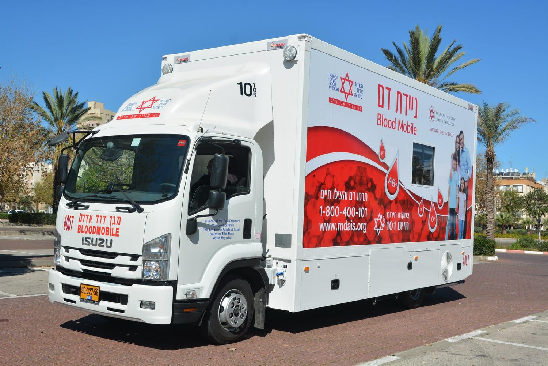 ניידת תרומת דם מגן דוד אדום צילום דוברות מדא