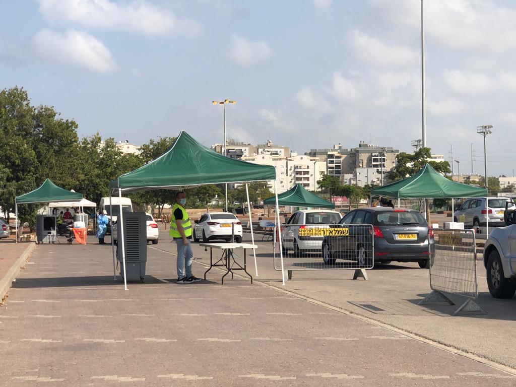 מתחם הדרייב אין לבדיקות קורונה בחולון, 10.10.20, צילום-עיריית חולון (11)