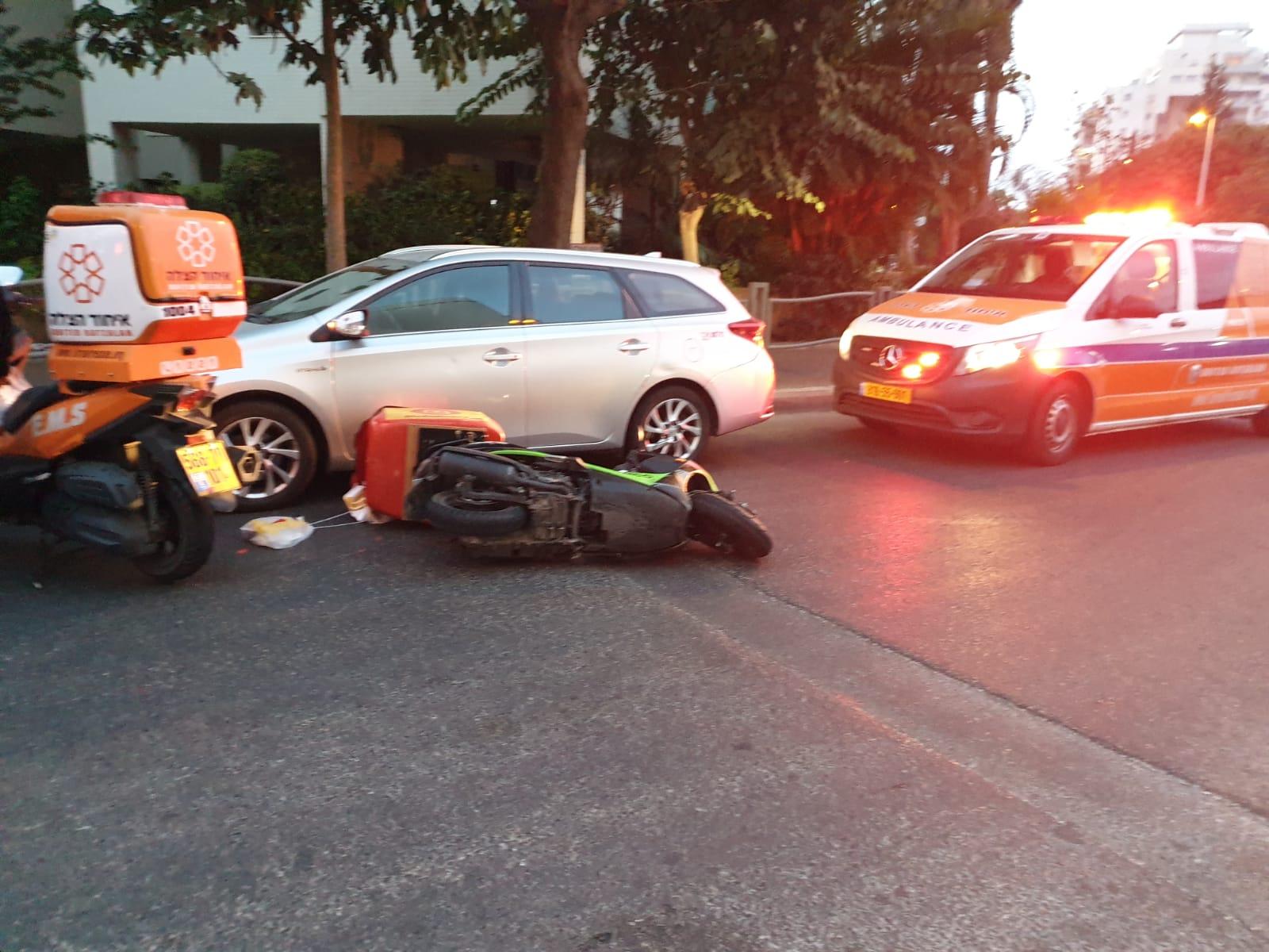 תאונה אופנוע קטנוע צילום דוברות איחוד הצלה