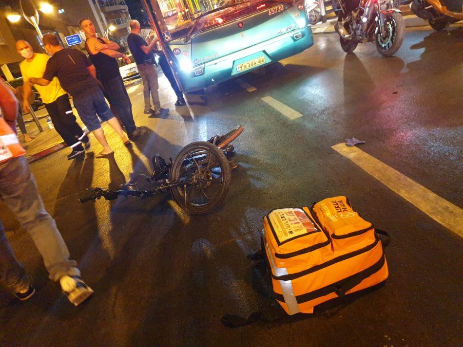 תאונה אופניים צילום דוברות איחוד הצלה