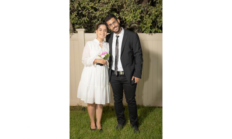 החתן והכלה יאיר ודולסה עמרם צילום מקס קובלסקי