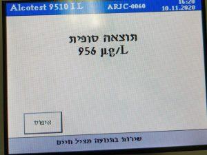 בדיקת אלכוהול- צילום דוברות משטרת ישראל