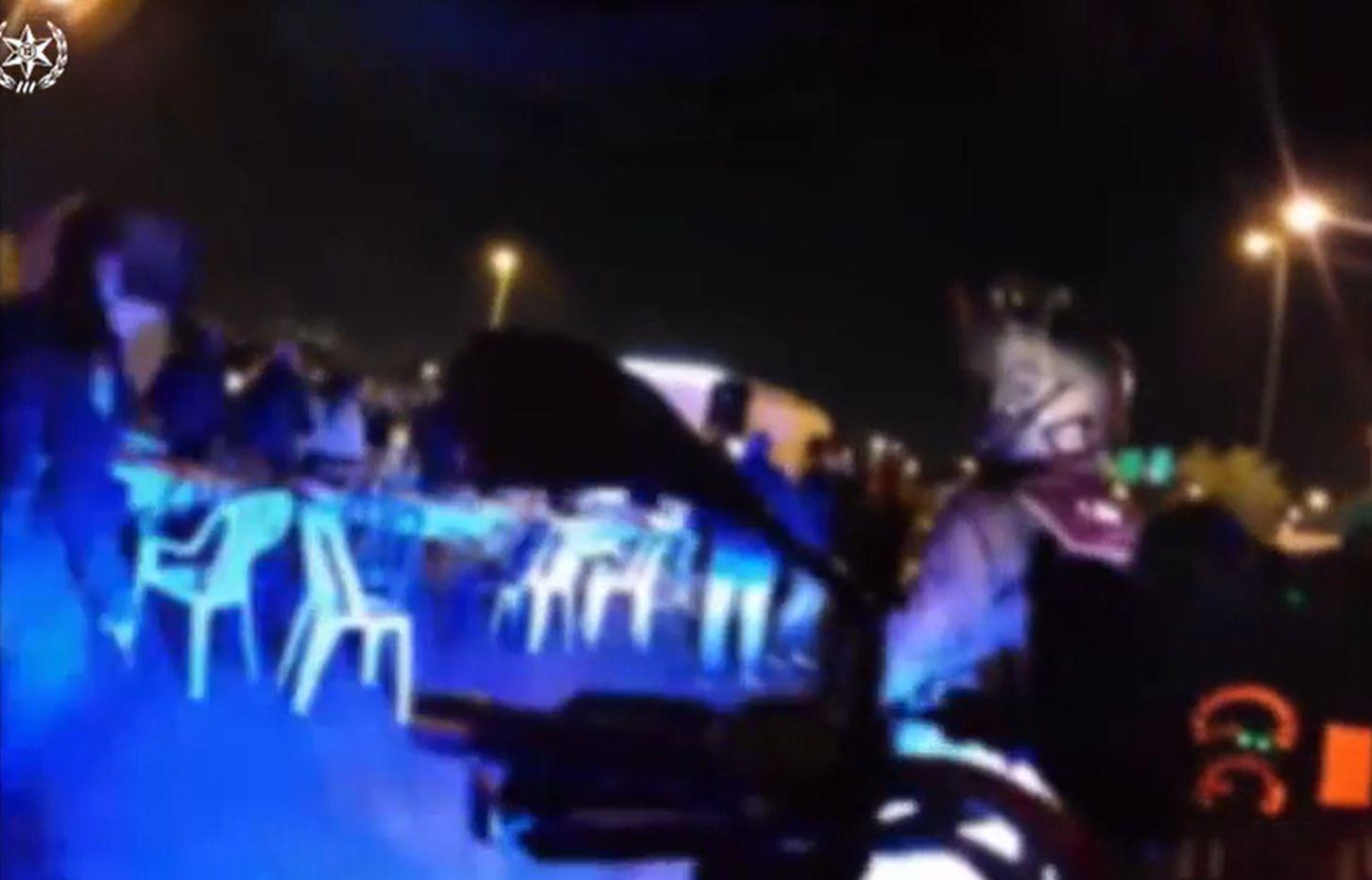 התקהלות מסיבה צילום דוברות משטרת ישראל