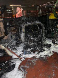 שריפה מוסך צילום דוברות כבאות והצלה