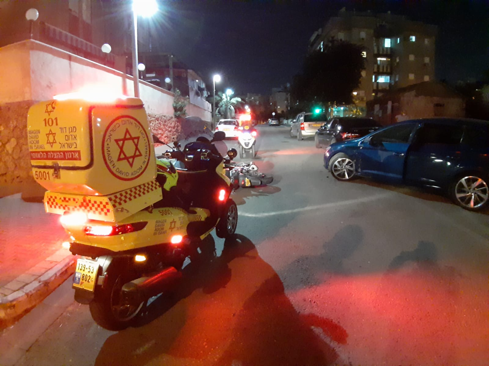 תאונה אופנוע צילום תיעוד מבצעי מדא