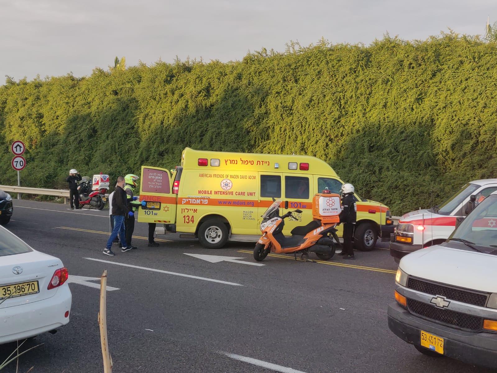 תאונה אמבולנס טיפול נמרץ אופנוע- צילום דוברות איחוד הצלה