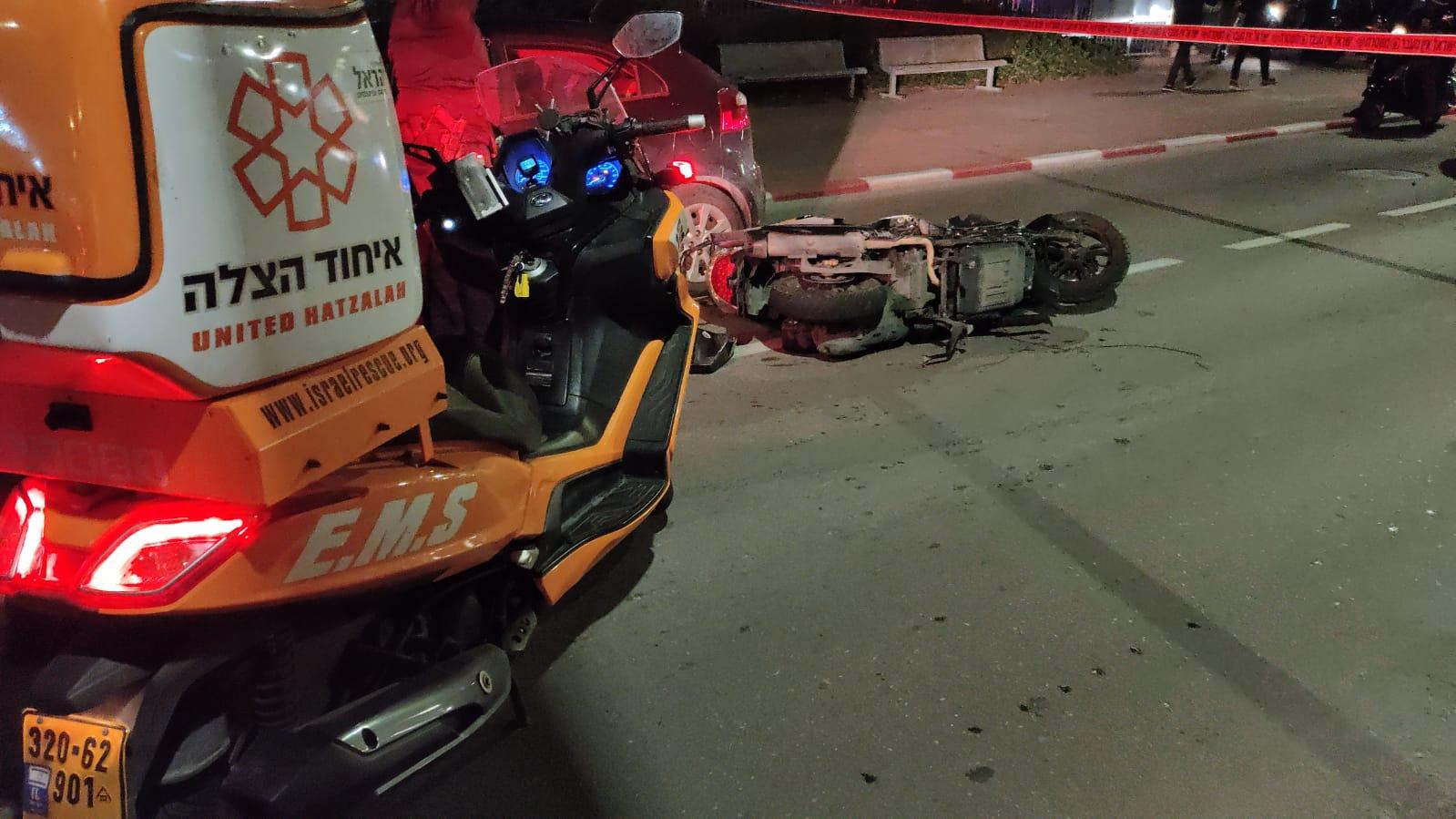 תאונה תאונת אופנוע צילום דוברות איחוד הצלה