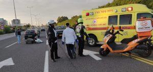 תאונה 1אמבולנס טיפול נמרץ אופנוע- צילום דוברות איחוד הצלה
