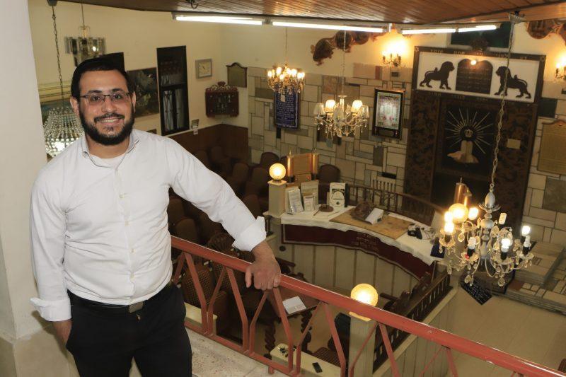 ישראל בוכריס בבית הכנסת 'אור יהודה'