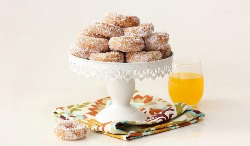 עוגיות יויו מטוגנות עם קוקוס ותפוזים