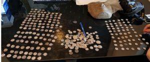 מטבעות עתיקים צילום דוברות משטרת ישראל