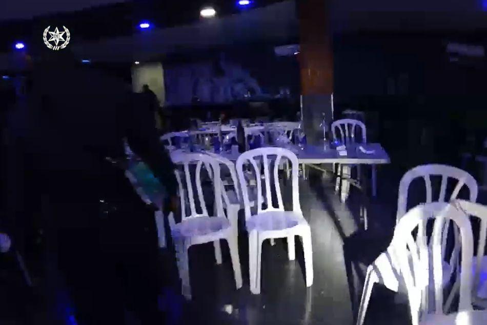 מסיבה לופט התקהלות צילום ממצלמת הגוף של השוטרים- דוברות משטרת ישראל