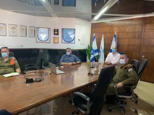 עיריית בת ים פיקוד העורף אלמ אריאל בליץ צביקה ברוט צילום דובר צהל