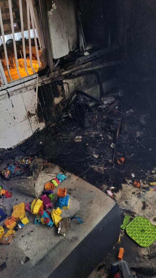 דירה שריפה צילום דוברות כבאות והצלה