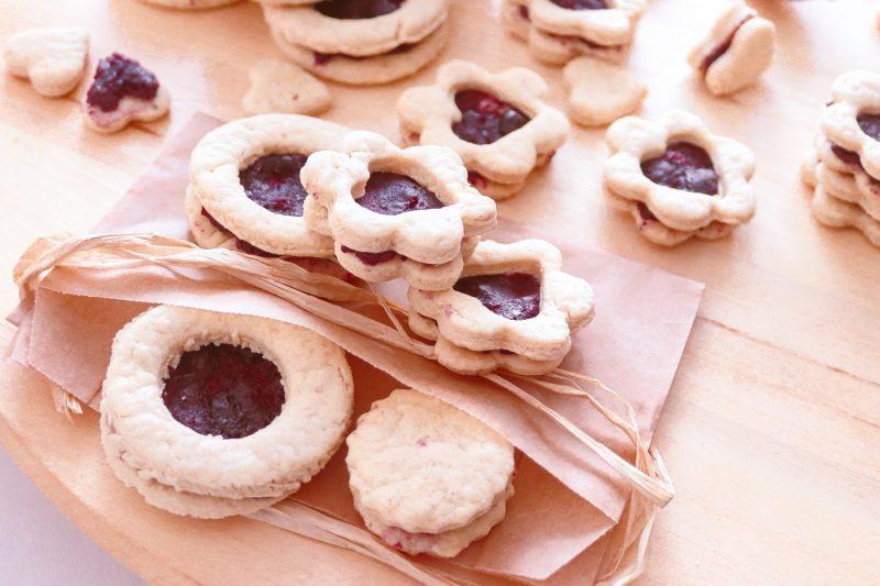 עוגיות טבעוניות עם ריבה