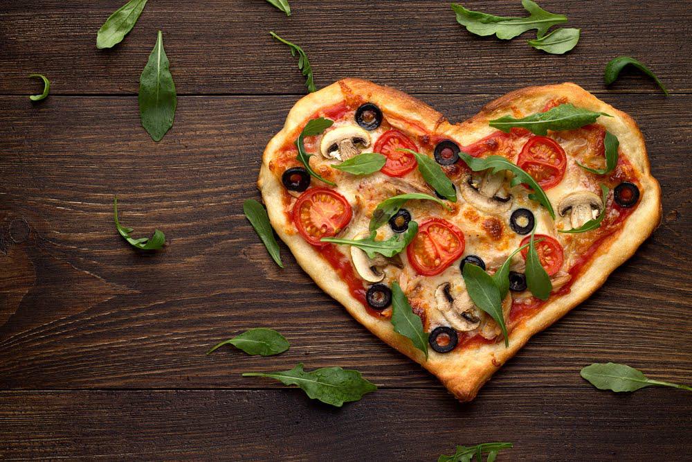 פיצה ולנטיינן_פיצה בצורת לב ליום האהבה