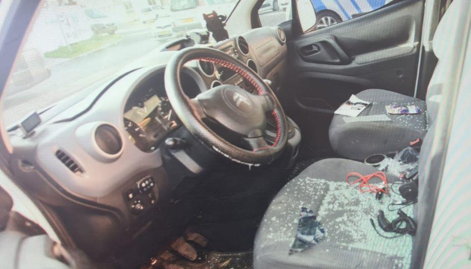רכב פרוץ נזק צילום דוברות משטרת ישראל
