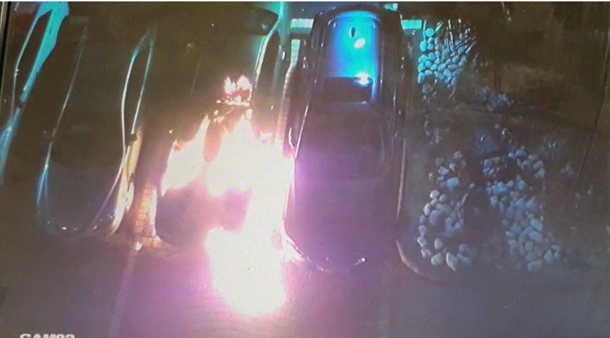 רכב שרוף צילום דוברות משטרת ישראל