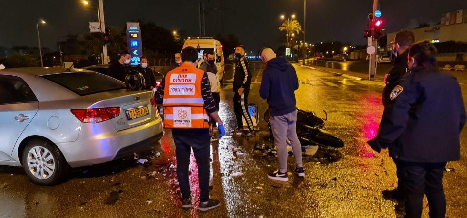 תאונה תאונת אופנוע צילום תיעוד מבצעי איחוד הצלה