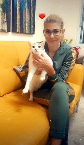 איריס חזן חתול צילום פרטי