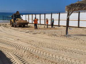 חול טרקטור חוף ים צילום דוברות עיריית ראשון לציון
