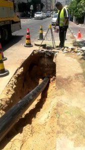 צינור תשתית צילום דוברות עיריית ראשון לציון