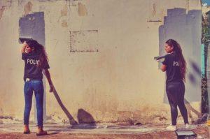 שוטרות צובעות צילום דוברות משטרת ישראל