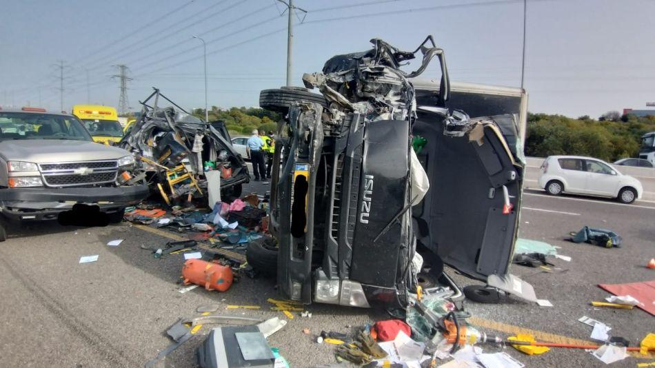 תאונה תאונת דרכים צילום דוברות כבאות והצלה