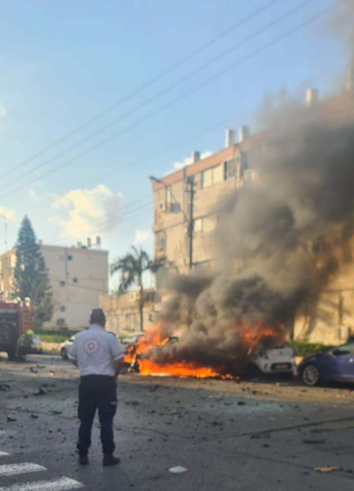 פיצוץ רכב אש מטען חבלה צילום תיעוד מבצעי מדא