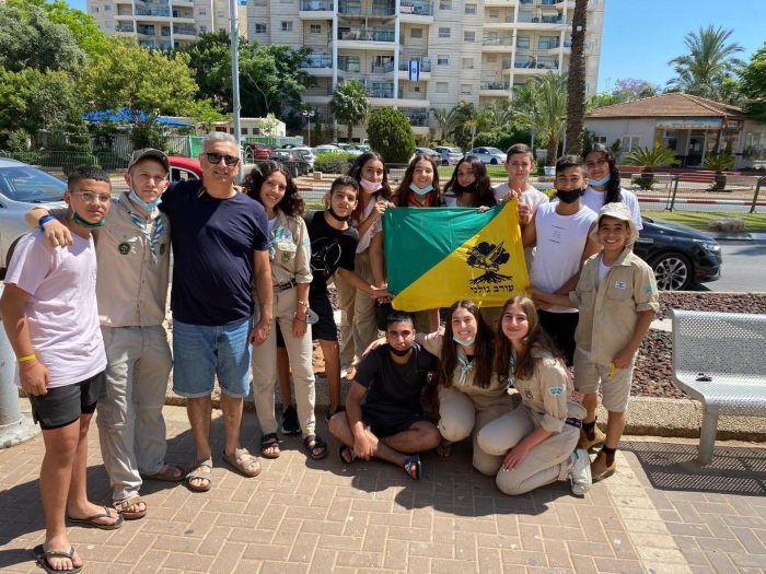 ברוך בן יגאל עם החניכים. צילום: דוברות העירייה