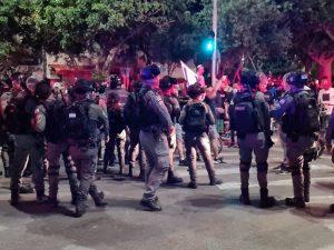 הפגנה שוטרים צילום דוברות משטרת ישראל