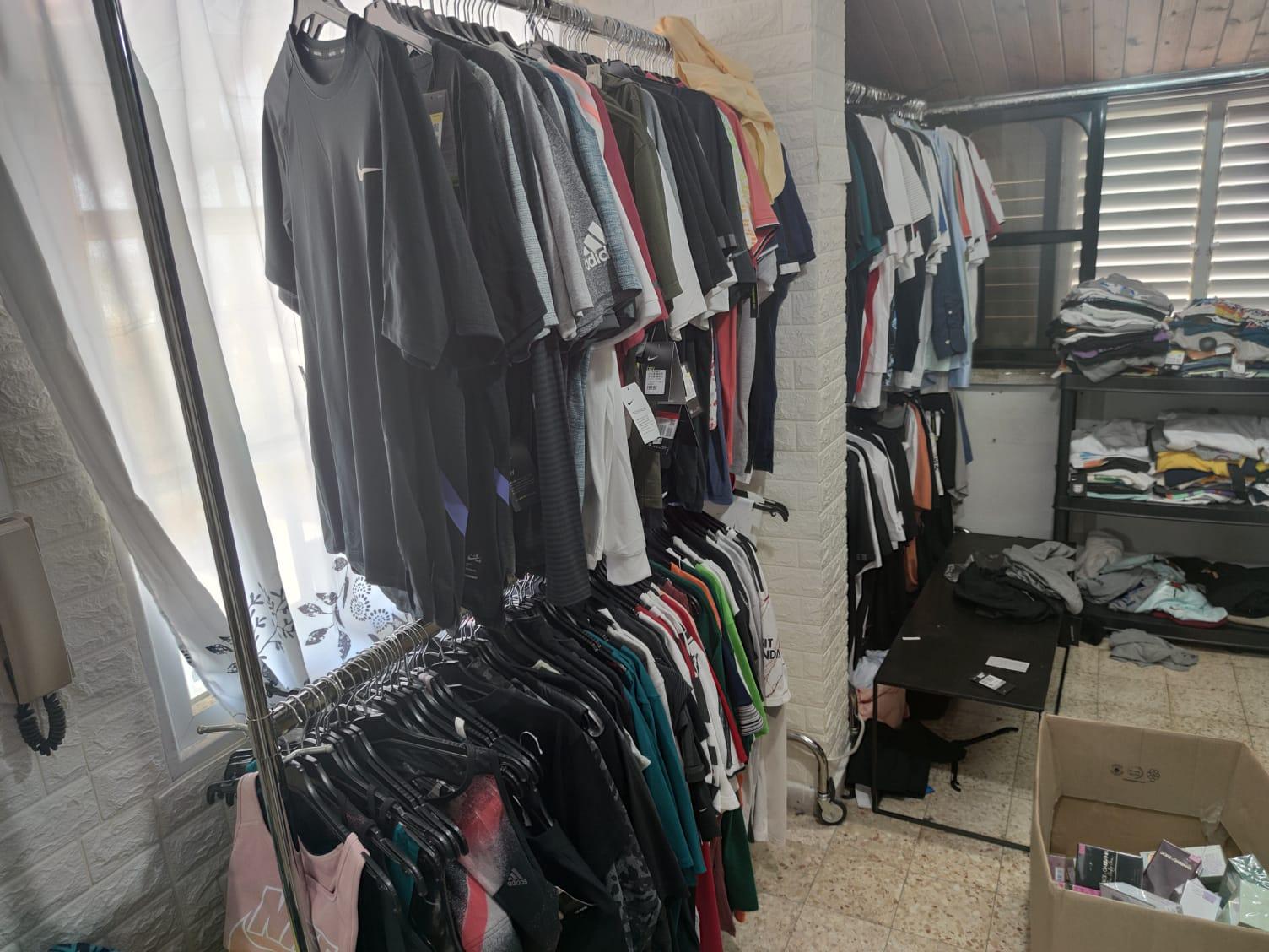 חולצות בגדים צילום דוברות משטרת ישראל