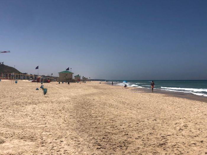 חוף ראשון הבוקר. צילום: פרטי