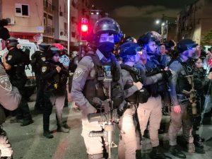 שוטר הפגנה צילום דוברות משטרת ישראל