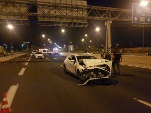 תאונה רכב צילום דוברות משטרת ישראל