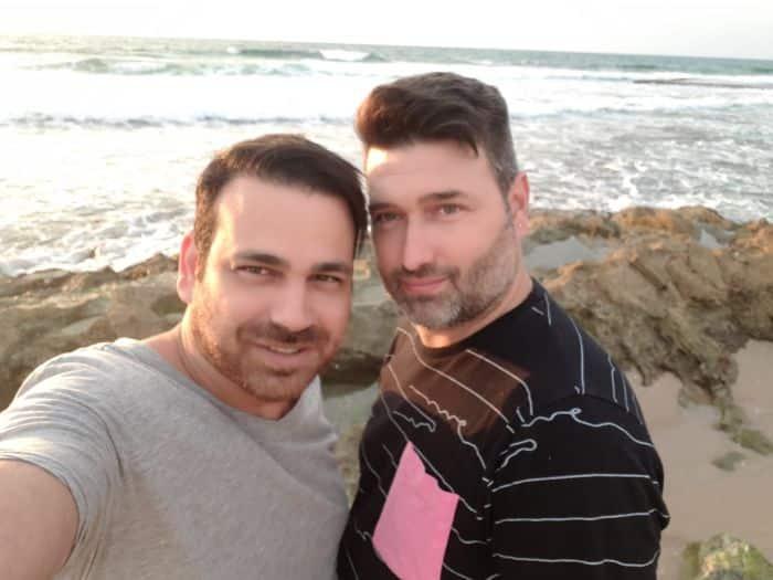 אריק ובן זוגו קובי. צילום: פרטי